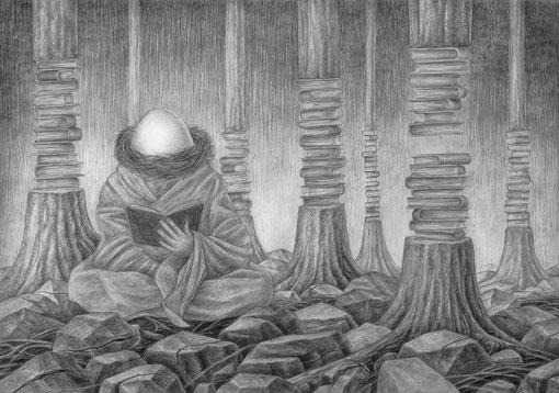 Die alchemische Latenz  /  mech. Bleistift auf Papier A4  /  verfügbar