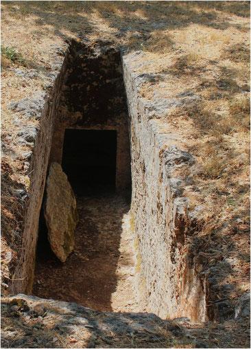 La nécropole d' Arméni, Crète (Grèce)