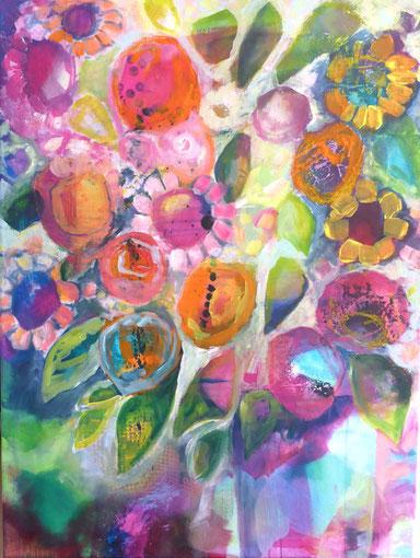 Blüten werden verändert, weitere Blüten hinzugefügt