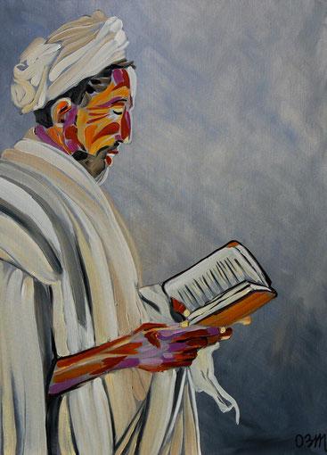 le Livre, huile sur toile 60 X 80, 2011