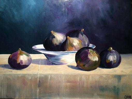 figues, huile sur toile 65X73, 2016