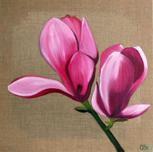 Magnolia, huile sur toile 40x40, 2010 (vendu)