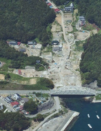 震災後(2011年6月)の小室地区