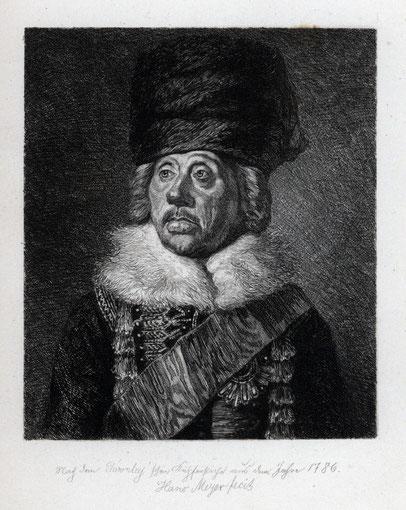 Hans Meyer Portrait Hans Joachim von Zieten
