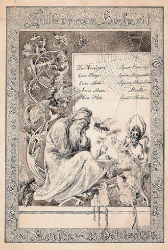 Hans Meyer Silb.Hochzeitsgabe Peters 21.10.1895