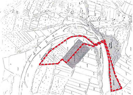 fig.3 Progetto di percorso pedonale con attraversamento del fiume Adige tramite passerella al parco di Villa Buri S.Michele Ex.