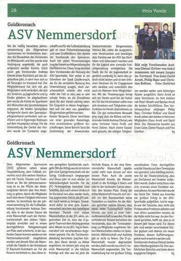 """Berichte zur Jahreshauptversammlung vom 22.3. aus """"Mein Verein"""" 28.3.2014"""