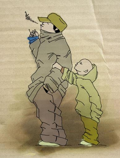 иллюстрация хочу курить