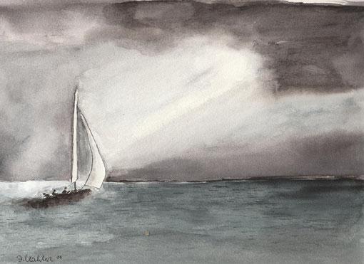 aufziehendes Gewitter