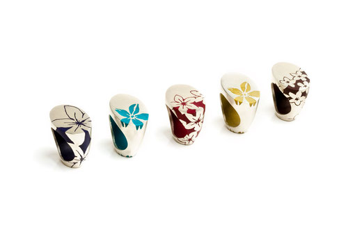 rings, silver and resin