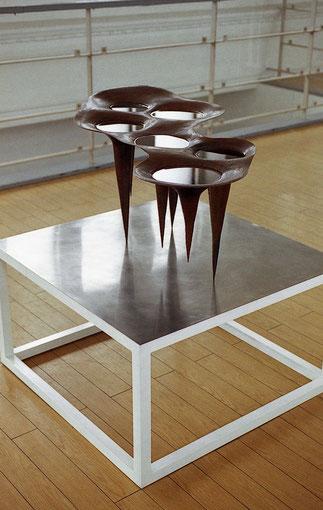 < a hydro-fork in the air series> 1996. copper.   小林正樹展   Art Works. KOBAYASHI Masaki.