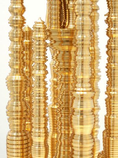 < Pagoda >             brass,h45×w17×d17cm