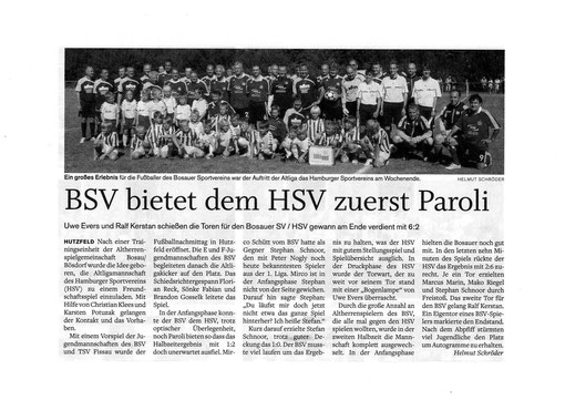 Zeitungsartikel im Ostholsteiner Anzeiger