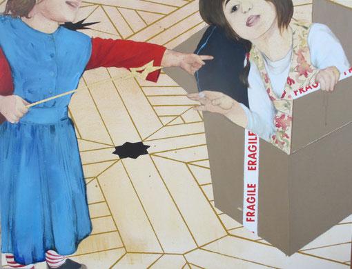 """""""La résurection de Lazare"""", 2014, 116x89 cm, acrylique et feuille d'or sur toile ©"""