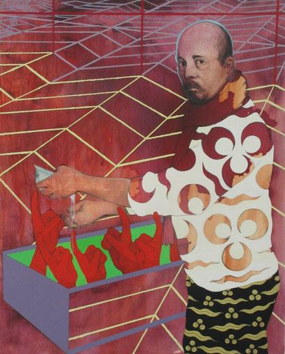 """""""Ponce Pilate se lavant les mains"""", 100x81 cm, acrylique sur toile ©"""