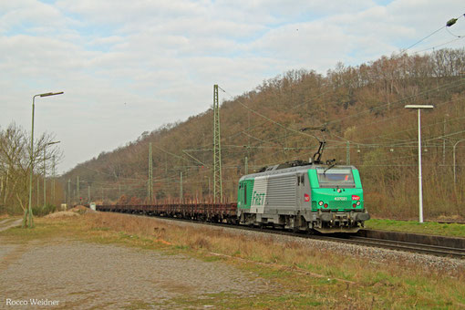 SNCF FRET BB37021 mit DGS 44454 Dillingen Hochofen Hütte - Forbach/F (Dunkerque), Luisenthal(Saar) 28.03.2015