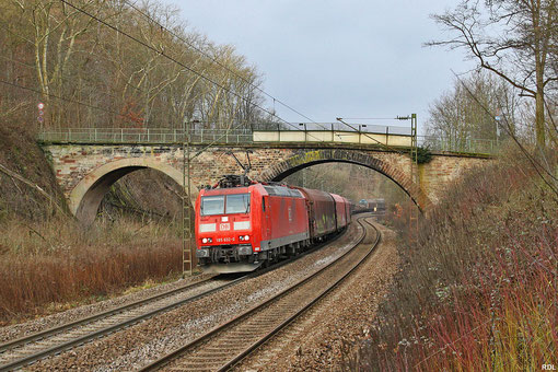 """185 032 mit """"Frachtensonderzug""""  EZ 44432 Mannheim Rbf - Forbach und ab Forbach weiter als 48450 nach Lérouville, Saarbrücken Deutschmühlental 06.01.2013"""