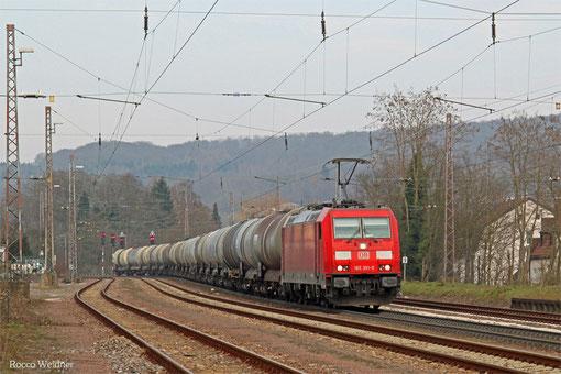 185 391 mit GC 98980 (Hegyeshalom/H) Würzburg Rbf Zell - Forbach/F (Sibelin) (Sdl.leere EKW), Dudweiler 16.03.2015