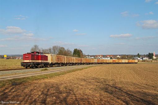 201 101 im Anschlussgleis zum Rettenmeier Werk in Ramstein 12.03.2015