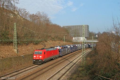 185 206 mit EK 55968 Saarbrücken Rbf West - Dillingen(Saar), Saarbrücken 16.03.2015