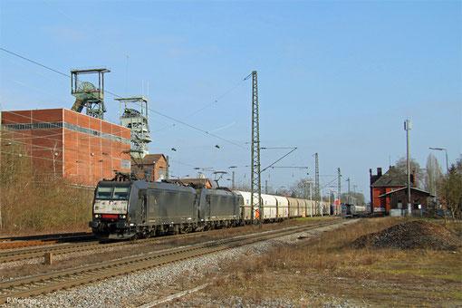 DT 185 553 + 185 554 mit DGS 91211 Göttelborn - Moers, Luisenthal 18.02.2015