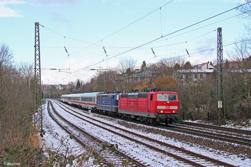 DT 181 204 + 181 201 mit IC 2055 Saarbrücken Hbf - Heidelberg Hbf, Saarbrücken 02.02.2015
