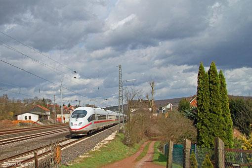 ICE 9555 Paris Est - Frankfurt/Main Hbf (Umleiter), Dudweiler 30.03.2015