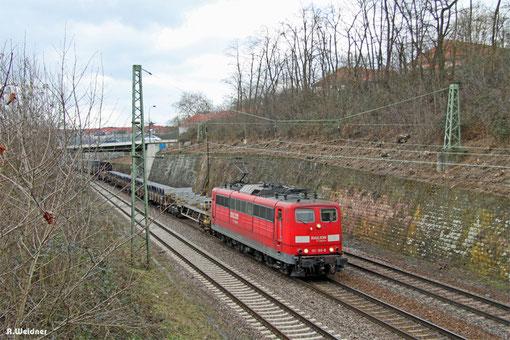 151 169 mit EZ 52083 Gremberg Gsf  - Saarbrücken Rbf Nord (EV), Saarbrücken 04.03.2015