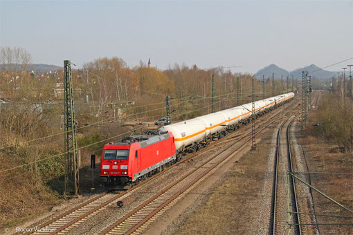 185 340 mit GC 49247 (Creutzwald/F) Saarbrücken Rbf Nord - Hüls AG, Bous 18.03.2015