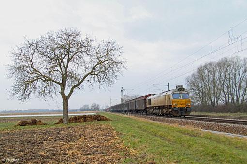 ECR 77 036 mit EZ 49221 (Villers-Cotterêts/F) Forbach/F - Mannheim Rbf Gr.M, 14.02.2015