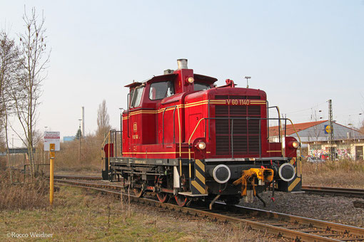 VEB V60 1140 (ehm. DB 365 140) am 18.03.2015 in Bous(Saar)