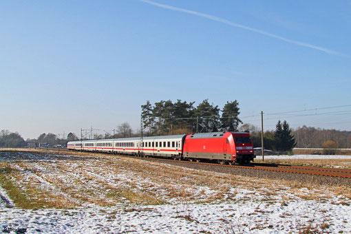 101 057 mit IC 2059 Saarbrücken Hbf - Frankfurt(Main)Hbf, Vogelbach 07.02.2015