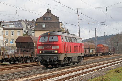 225 021 als T 67040 Kornwestheim Rbf SO - Trier Hbf (Sdl.), Dudweiler 26.02.2015
