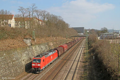 185 028 mit GM 98370 Ziltendorf EKO - Forbach/F (Revigny) (Sdl. Coils), Saarbrücken 13.03.2015