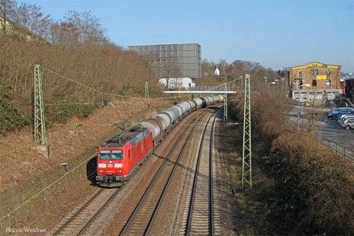 185 036 mit GC 98806 (Hegyeshalom/H) Saarbrücken Rbf Nord - Forbach/F (Sibelin) (Sdl.leere EKW), Saarbrücken 17.03.2015