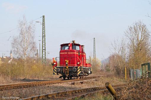 VEB V60 1140 rangiert in Bous(Saar) 23.03.2015
