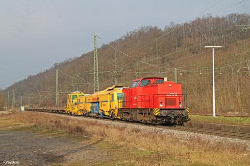 EBM 203 111 (ex. 202 651) mit DGS 95589 Hagen Gbf Hgw - Wemmetsweiler (Sdl.), Luisenthal 20.02.2015