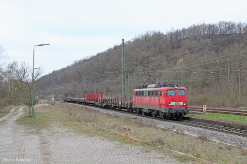 140 535 mit EK 55975 Völklingen Walzwerk - Saabrücken Rbf Nord, Luisenthal 28.03.2015