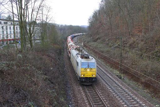 ECR 186 308 mit KT 41201 Irun - Ludwigshafen BASF in Saarbrücken - 31.01.2013