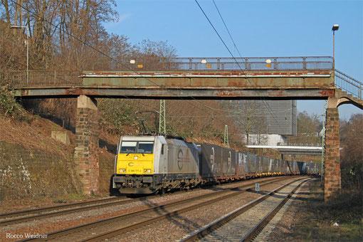 ECR 186 177 mit GA 49240 (Derince/TR) München Ost Rbf - Forbach/F (Nosiy-le-Sec) (Renault), Saarbrücken 17.03.2015