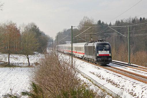 182 507 mit IC 2055 Saarbrücken Hbf - Heidelberg Hbf, Kirkel-Neuhäusel 06.02.2015