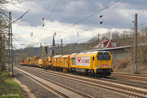 264 011 (BLP Wiebe Logistik) mit DBV 62587 Saarbrücken Rbf - Landsweiler-Reden (Sdl. Baustellenlogistik), Dudweiler 30.03.2015
