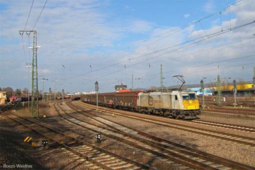 ECR 186 344 mit EZ 44284 Einsiedlerhof - Gevrey Triage/F (EV, Railnet France), Homburg(Saar) 21.03.2015