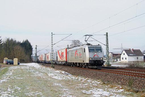 185 538 mit DGS 48580 Bettembourg/L - München Laim Rbf (KV), Vogelbach 03.02.2015