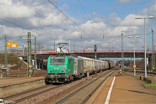 """SNCF FRET BB37019 """"DENIS DOUTE"""" mit """"Wasserzug"""" Worms - Forbach/F, Homburg(Saar) 03.03.2015"""