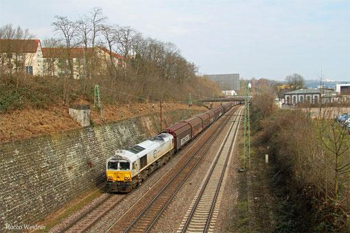 ECR 77 008 mit EZ 47256 Saarbrücken Rbf West - Gretz-Armainvilliers (Bosch), Saarbrücken 24.03.2015