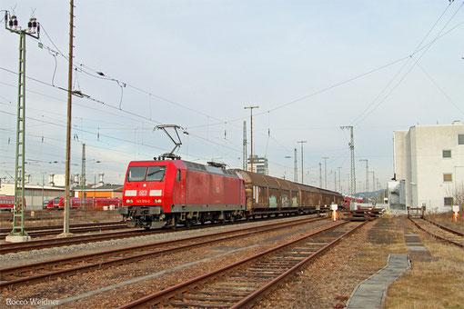 145 016 mit EZ 44284 Einsiedlerhof - Gevrey Triage/F (EV, Railnet France), Kaiserslautern 07.03.2015