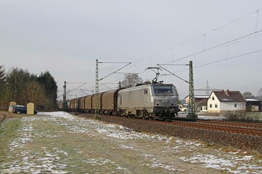 AKIEM BB37006 (i.E. für Captrain Deutschland) mit DGS 41485 Forbach/F - Gliwice Port/PL (Sdl.), Vogelbach 03.02.2015