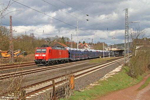 185 036 mit GA 49276 Einsiedlerhof - Woippy/F (Hendaye) (Umleiter), Dudweiler 30.03.2015