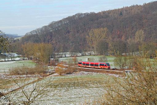 """643 029 """"Katzweiler"""" als RB 12873 Kusel - Kaiserslautern Hbf, Niedermohr 03.02.2015"""